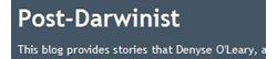 post-darwinist